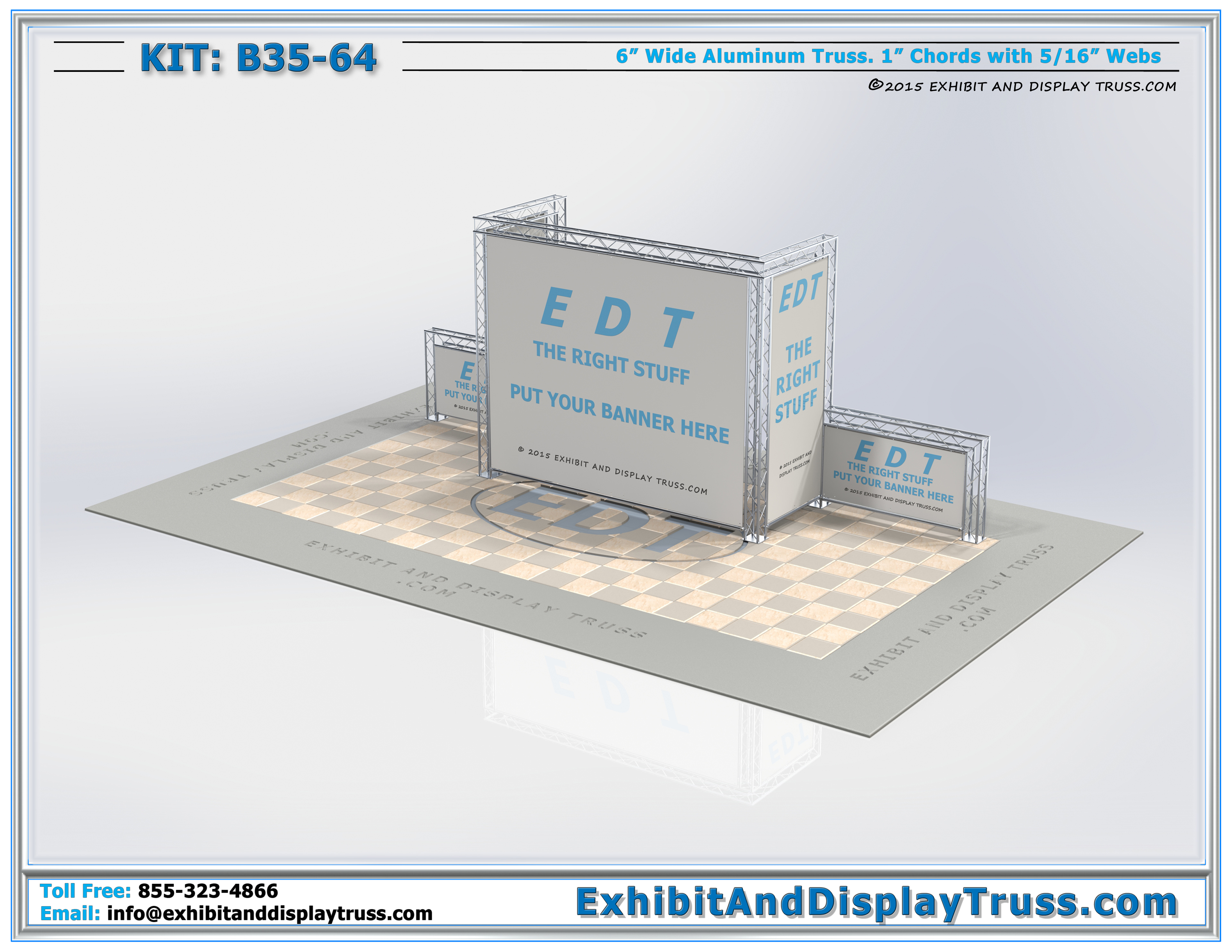 Trade Show Booth Visitors : Exhibit display kits b