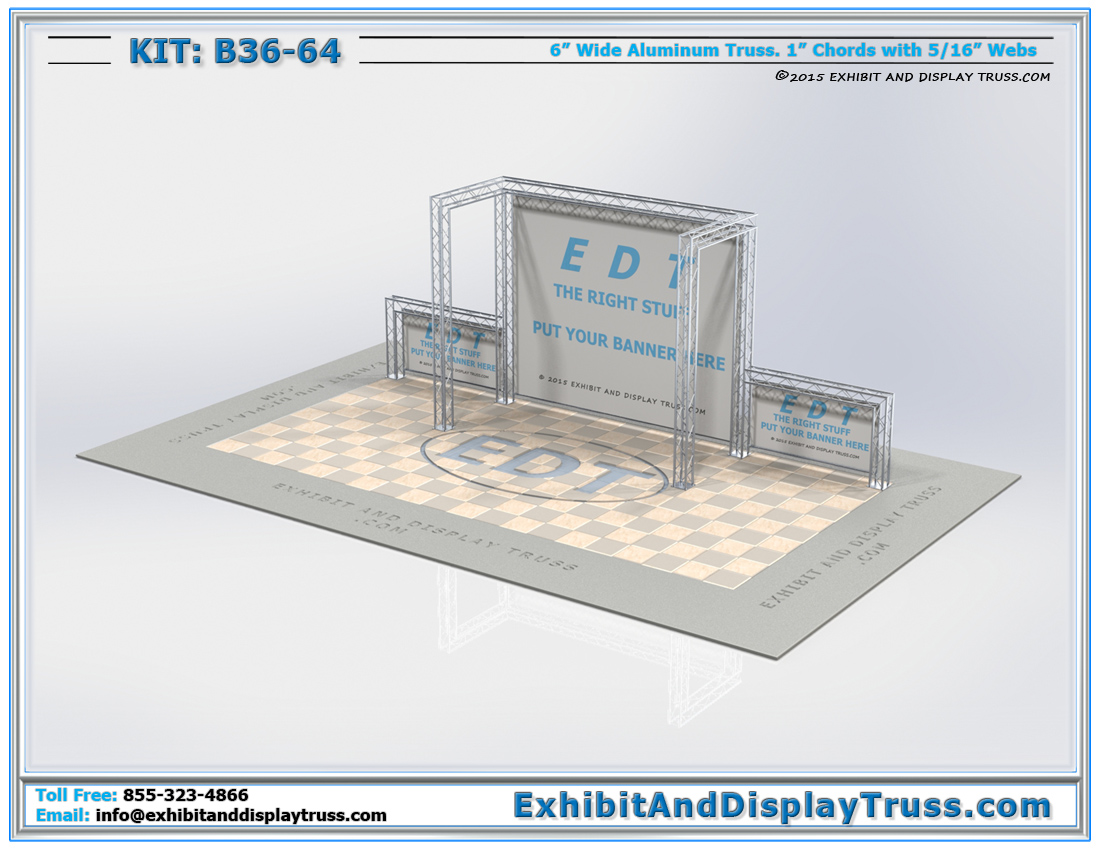 Kit: B36-64 / Peninsula Trade Show Booth for Exhibit Halls