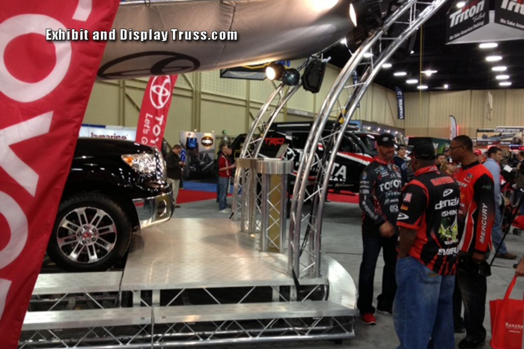 Trade show Truss Booths. Toyota Truss Booth