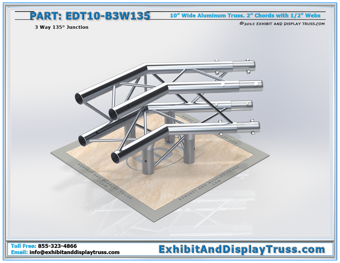 PART: EDT10-B3W135 / 10″ Wide 3 Way 135° Box Junction
