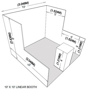 Standard In-Line Linear Booth