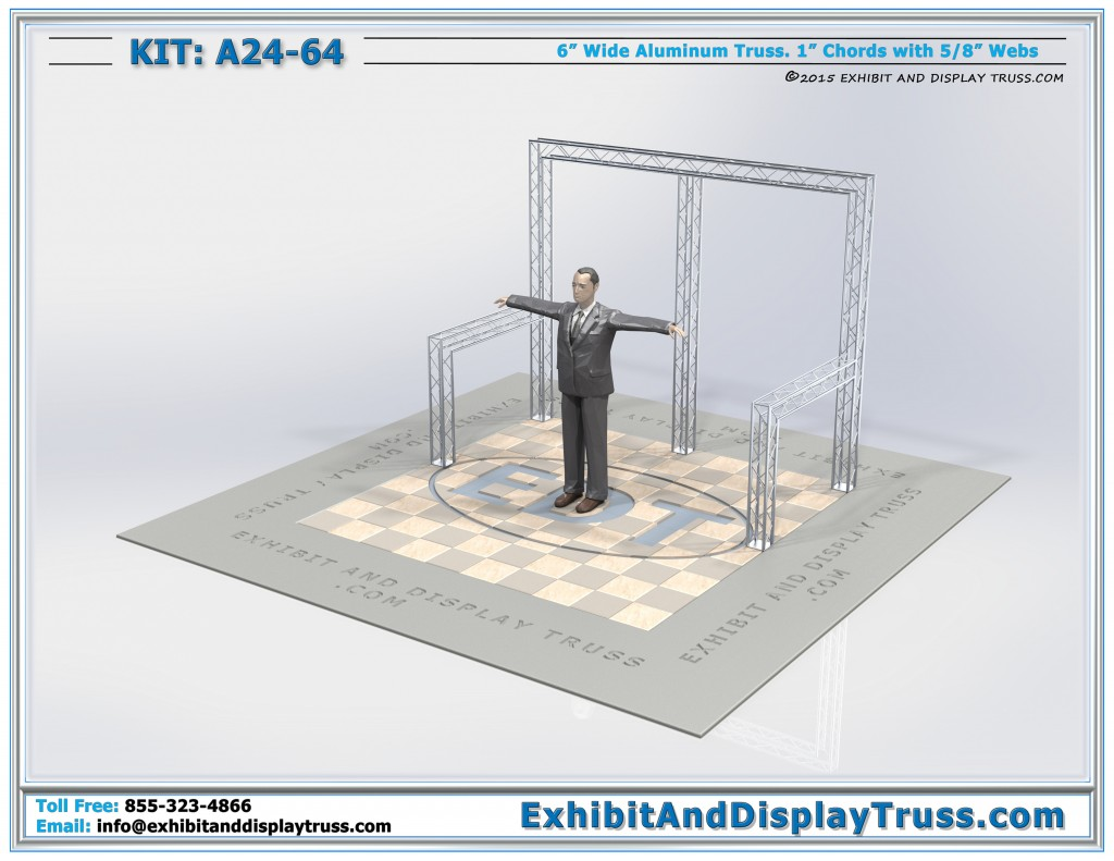 """Retail Display and Retail Lighting with 6"""" Wide Mini Truss"""