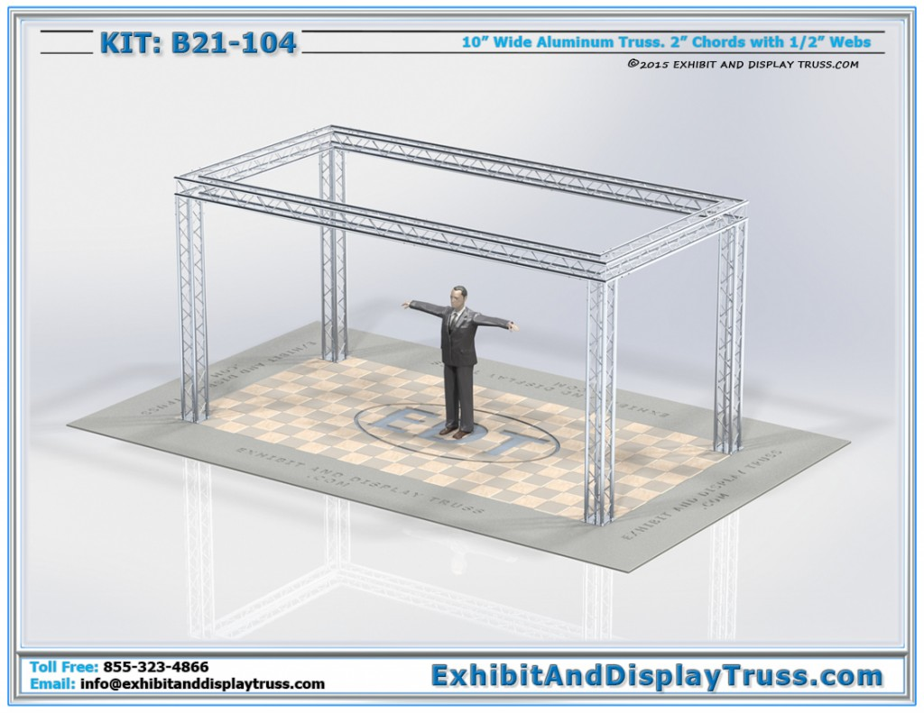 Aluminum Truss Trade Show Booth 10 x 20 B21_104