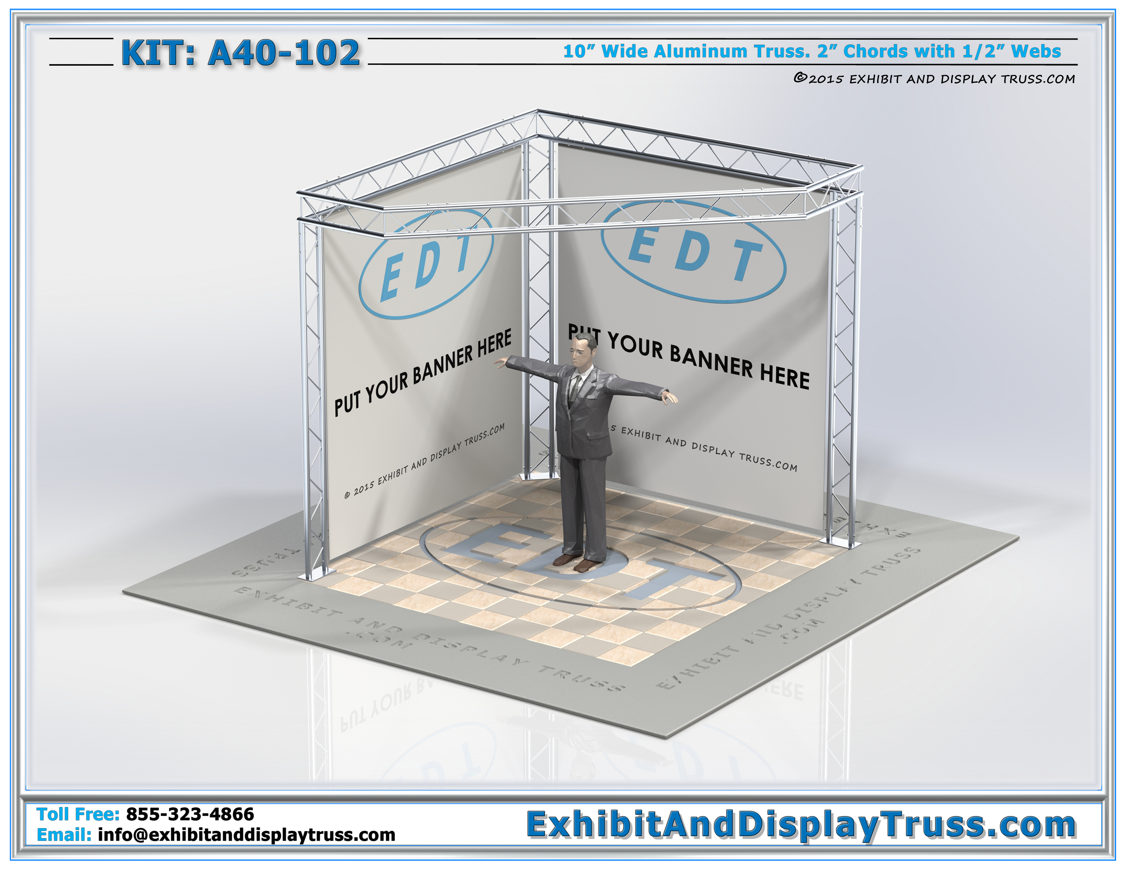 Trade Show Booth Dimensions : Exhibit display kits flat packing a