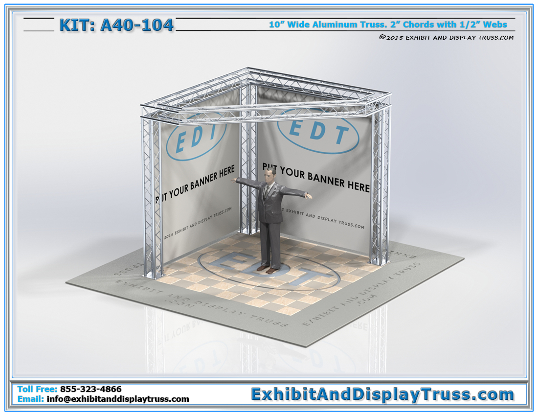 Kit: A40-104 / Cost Effective Corner Booth for Trade Show