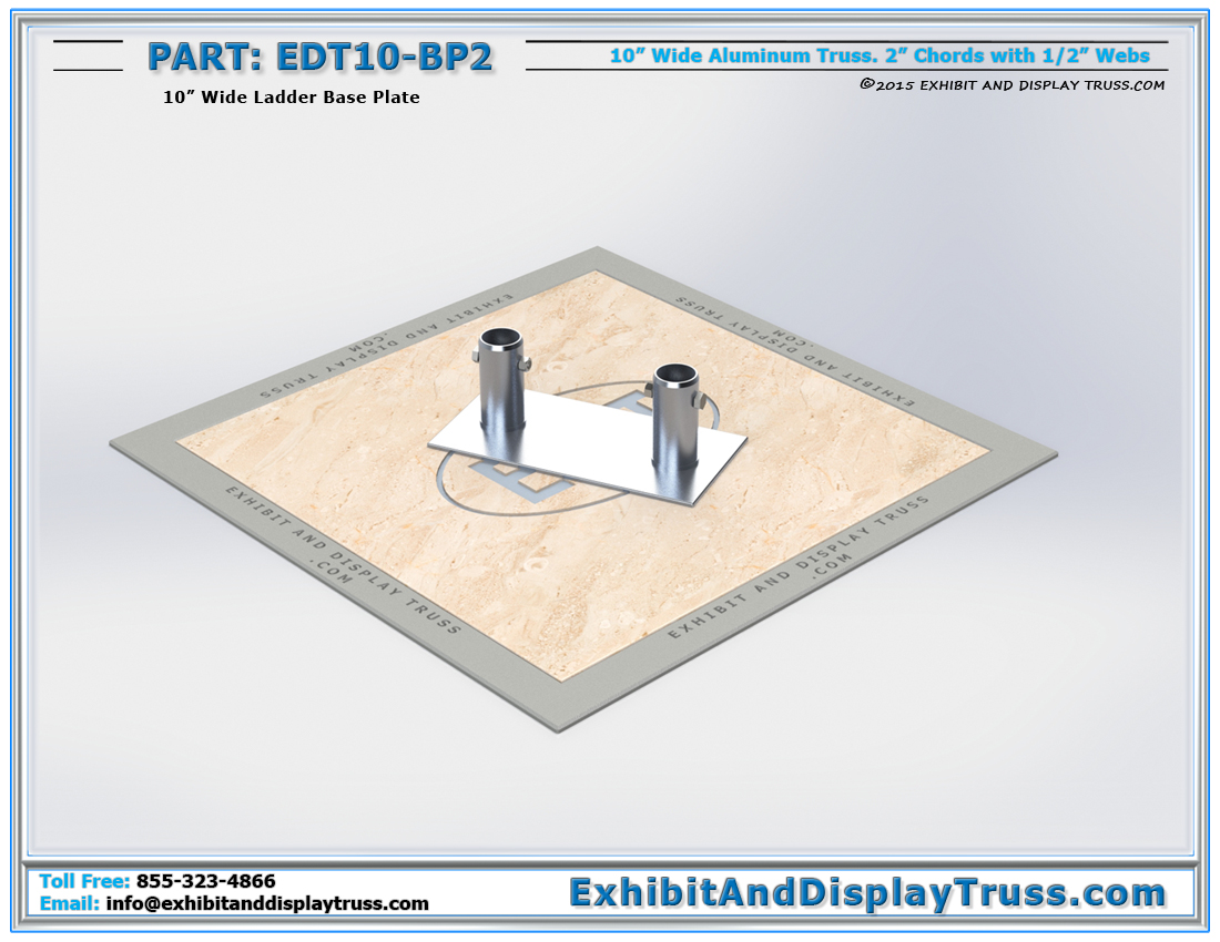 PART: EDT10-BP2 / 10″ Wide Ladder Base Plate