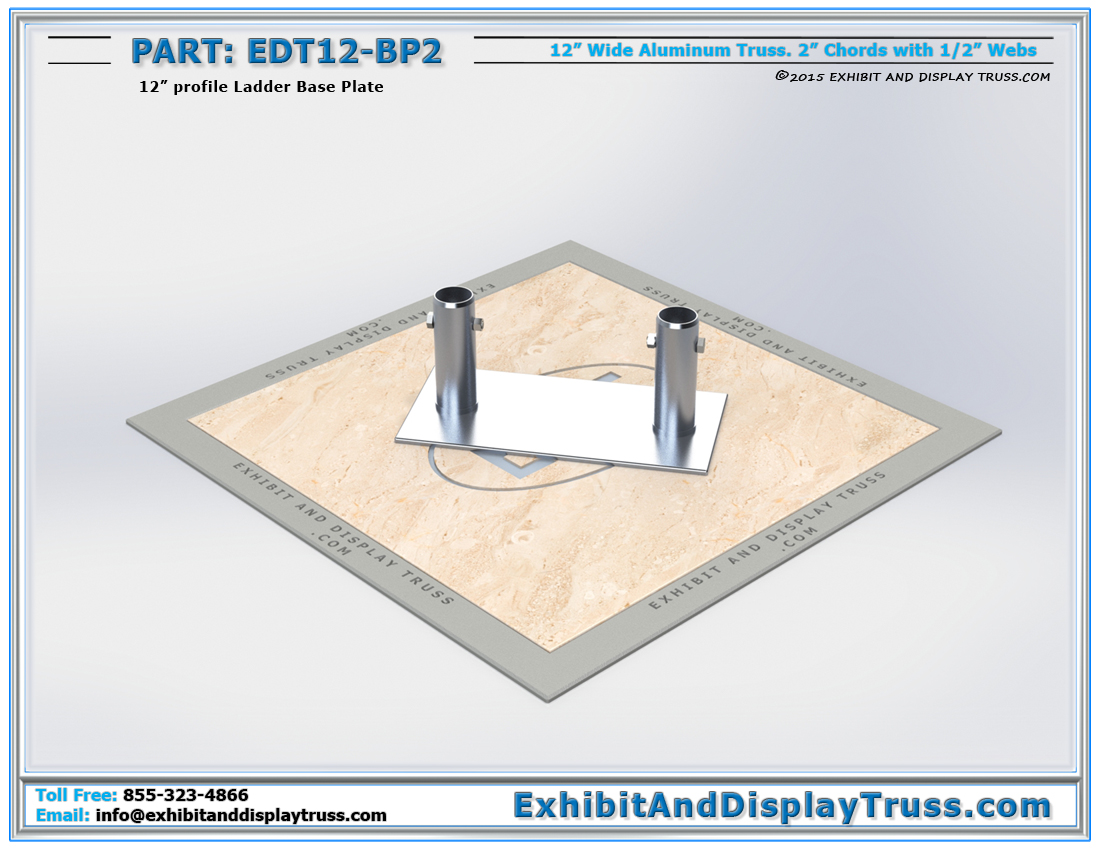 PART: EDT12-BP2 / 12″ Wide Ladder Base Plate