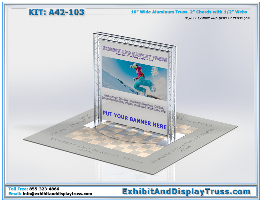 Kit: A42-103 / Goal Post Truss Archway for Banners and Trade Show Backdrops