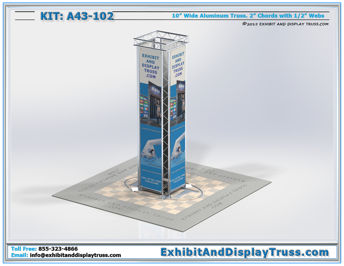 Kit A43-102 / Tower Display Column for Media and Banners