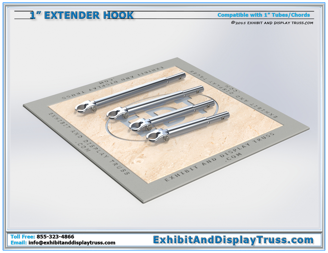 1″ Tube Extender Hook Clamps / Attaching Truss and Accessories to 1″ Tube