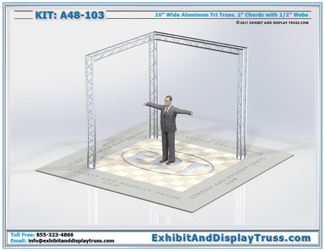 Kit: A48-103 / L-Booth Corner Trade Show Booth Display