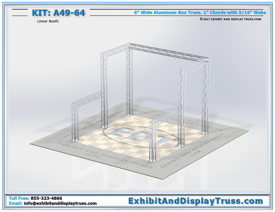 Kit: A49-64 / Linear Booth Trade Show Display