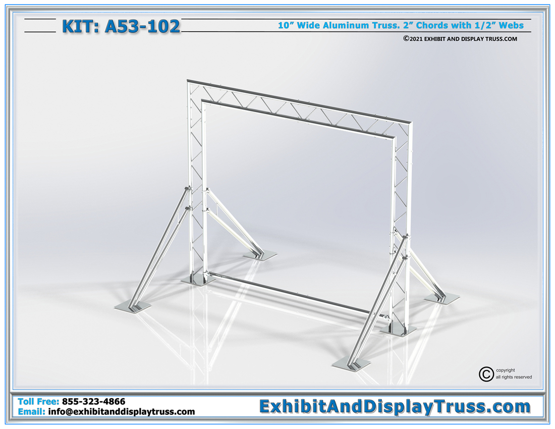 Kit: A53-102 / Compact and Portable Truss Back Wall