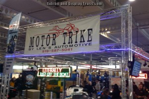 Motor Trike trade show display booth made with 10