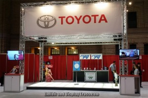 Toyota aluminum trussing trade show display  booth design.