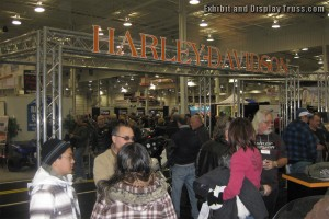Aluminum truss convention booth for Harley Davidson.
