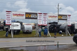 Lazy Days RV is the one of the nations largest suppliers of RV's and they chose Exhibit an d Display Truss to complete all there promotional archways on site. Great people and great products!