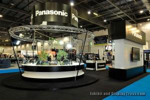 Panasonic's beautiful display aluminum  truss kit from EDT.