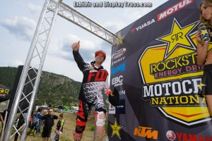 RockStar Energy drink motocross series stage and finish line were all made with our aluminum trussing.