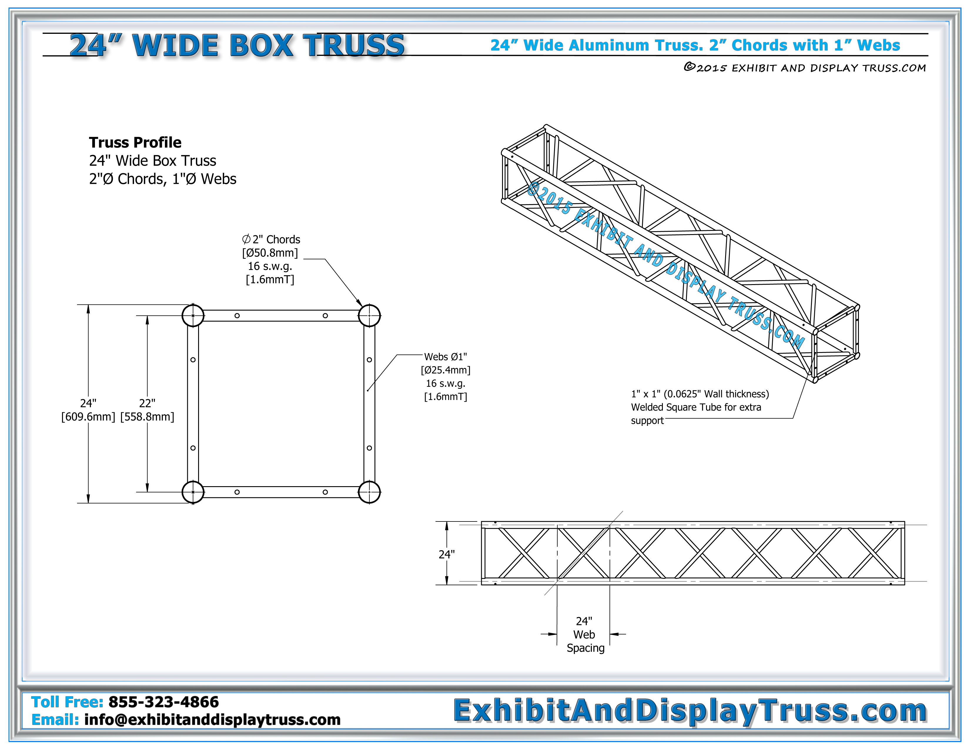 24″ Wide Aluminum Truss – Light Design Systems