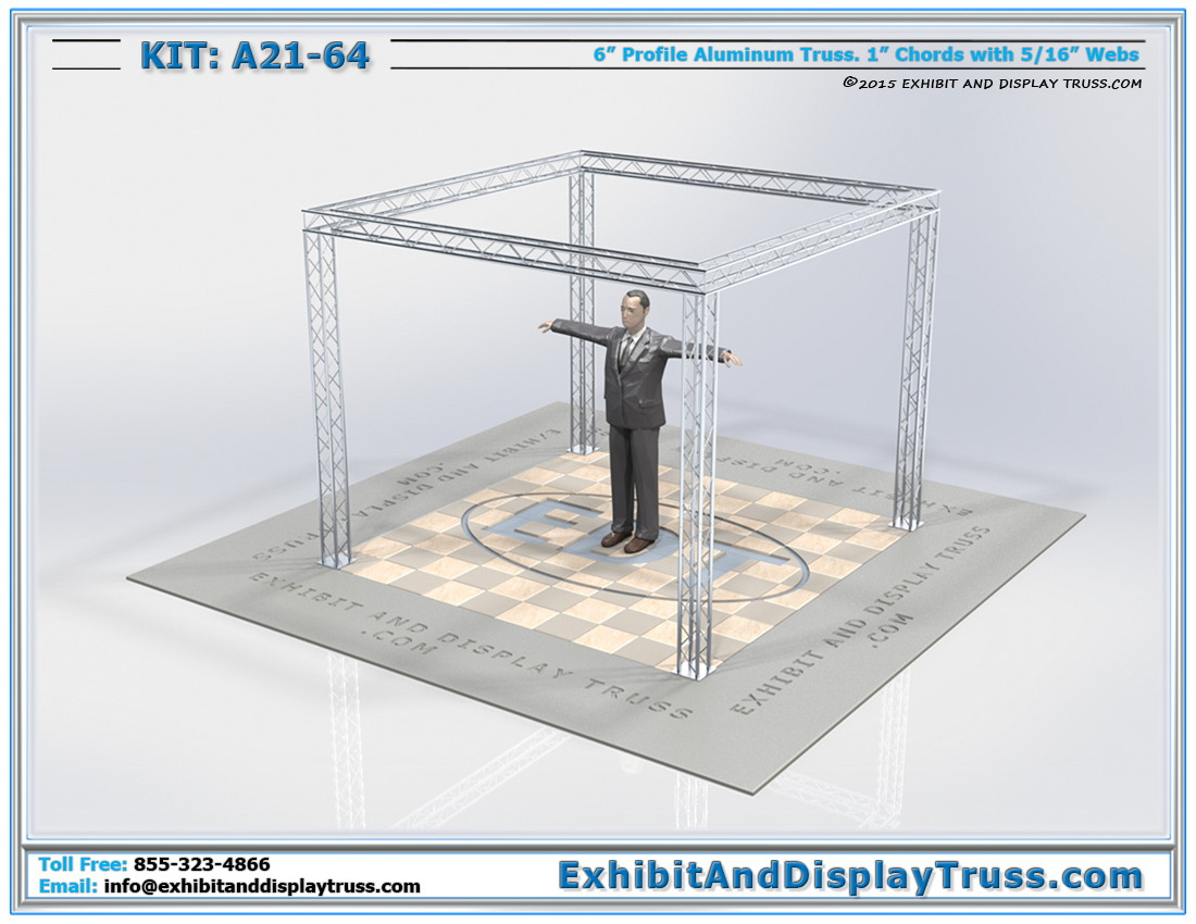 Kit: A21-64 / Best Selling Modular Mini Display Booths for Perimeter Display