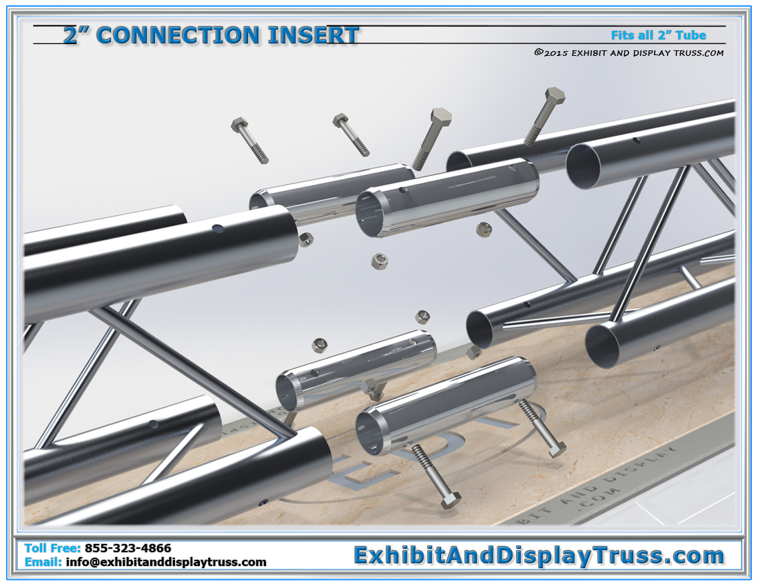 PART: 2″ Tube Connection Insert / Connecting 2″ Tube Truss Together