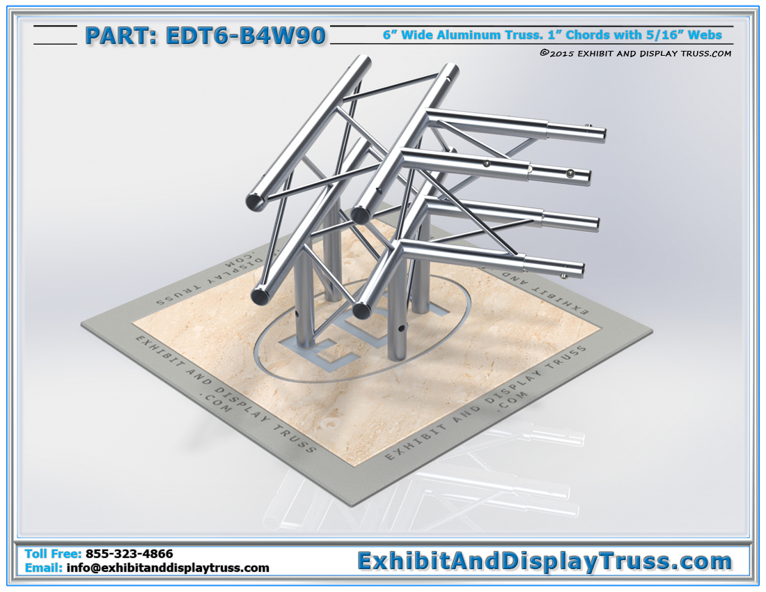 PART: EDT6-B4W90 / 4 Way 90° Box Junction