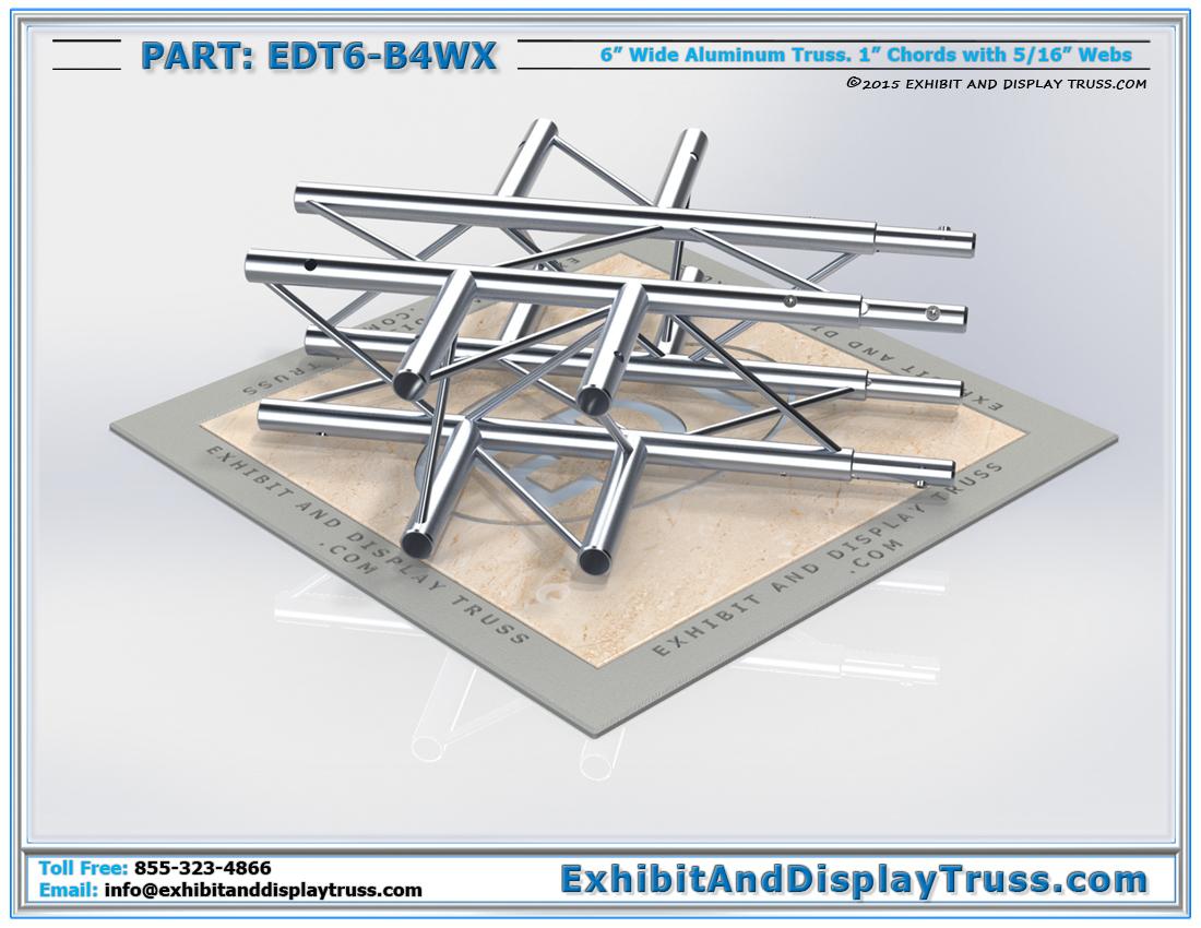 PART: EDT6-B4WX / 4 Way 90°