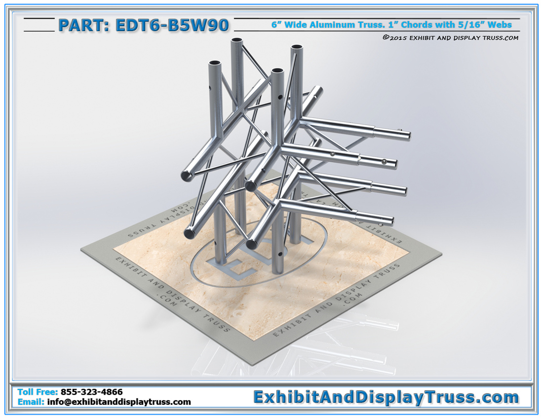 PART: EDT6-B5W90 / 5 Way 90° Box Junction