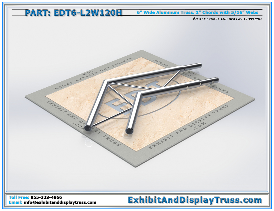 PART: EDT6-L2W120H / 2 Way 120° Ladder Junction Horizontal