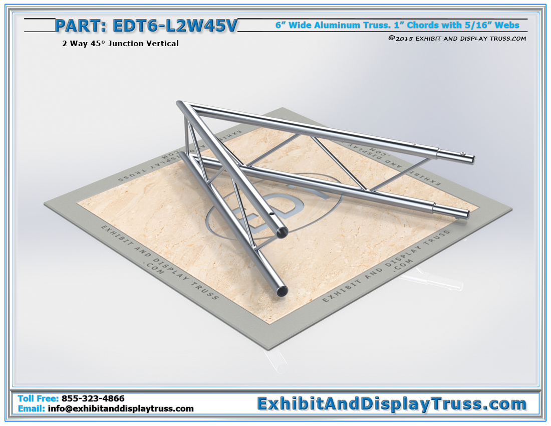 PART: EDT6-L2W45V / 2 Way 45° Ladder Junction Vertical