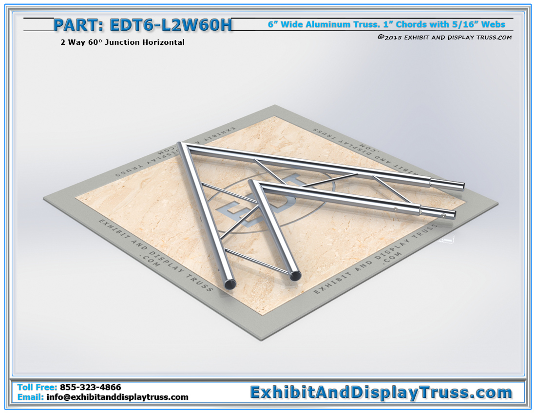 PART: EDT6-L2W60H / 2 Way 60° Ladder Junction Horizontal