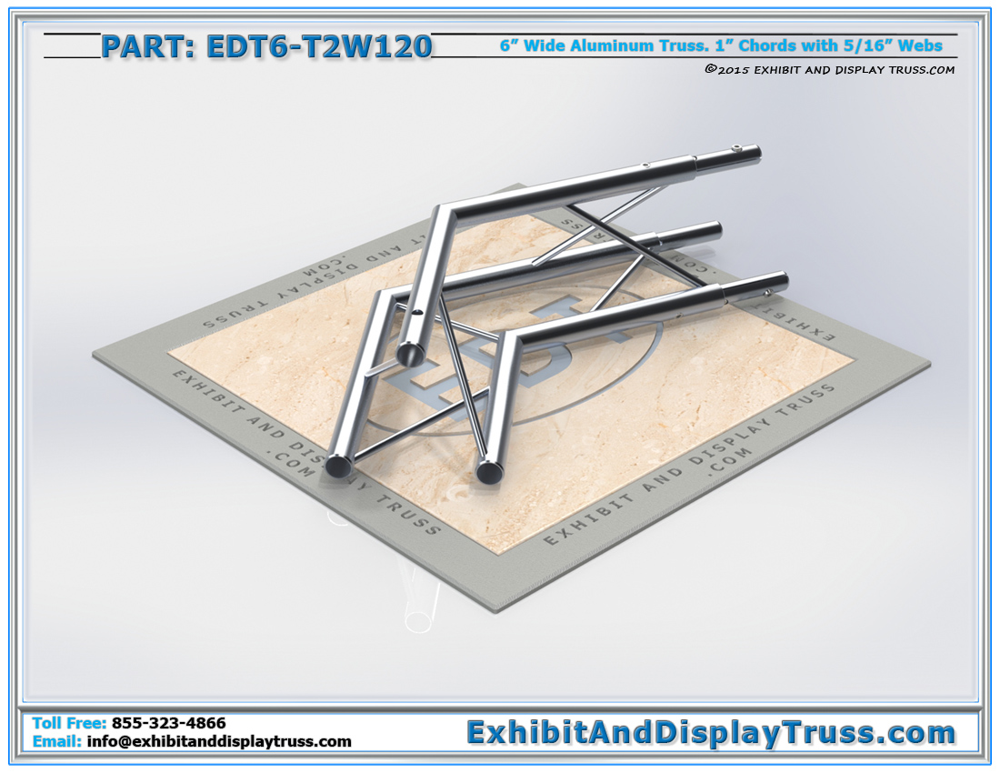 PART: EDT6-T2W120 / 2 Way 120° Junction Apex Up or Down