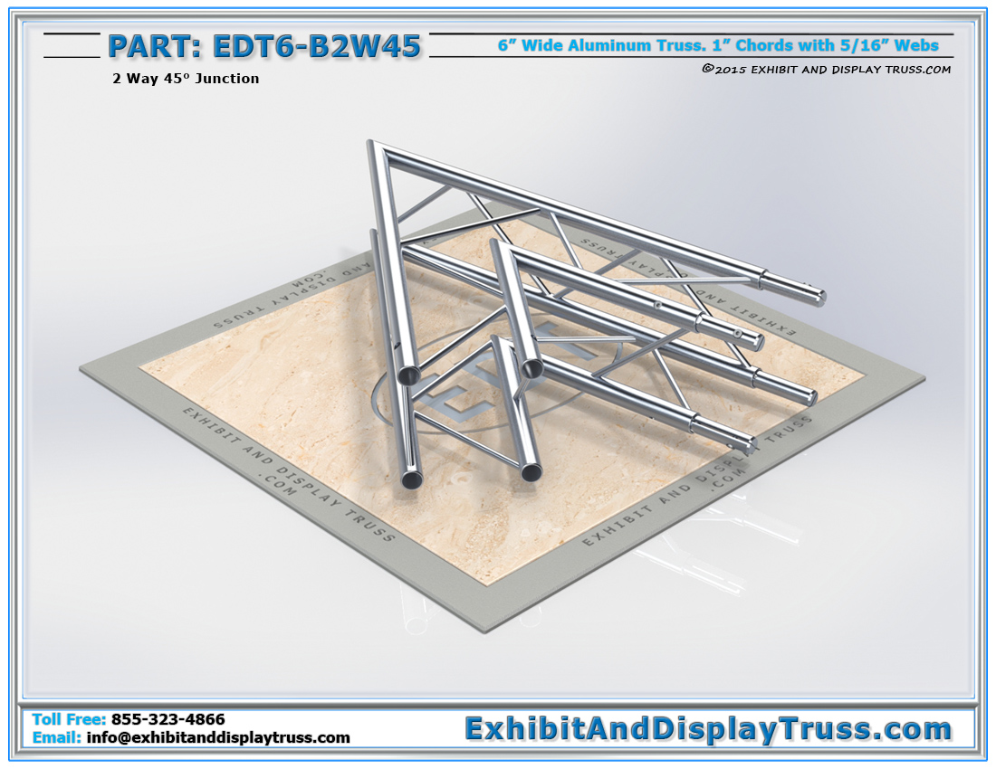 PART: EDT6-B2W45 / 2 Way 45° Box Junction