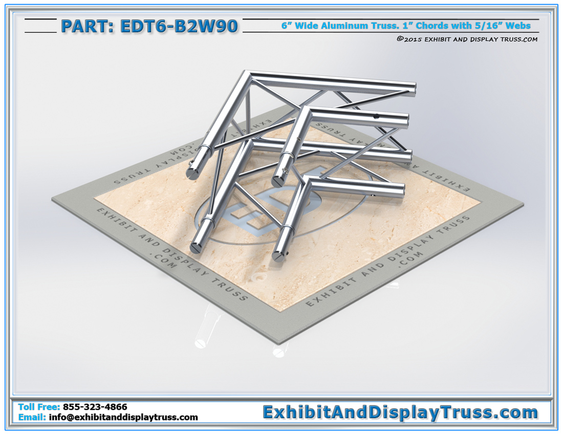 PART: EDT6-B2W90 / 2 Way 90° Box Junction