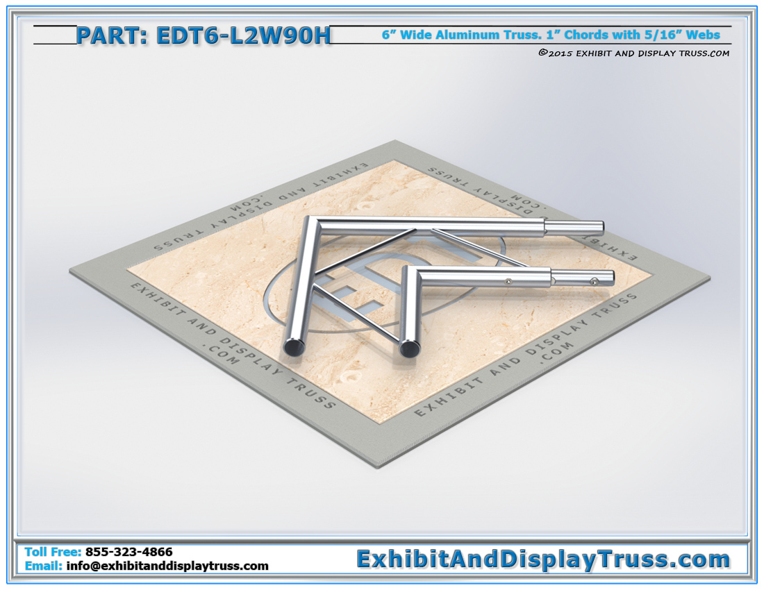 PART: EDT6-L2W90H / 2 Way 90° Ladder Junction Horizontal