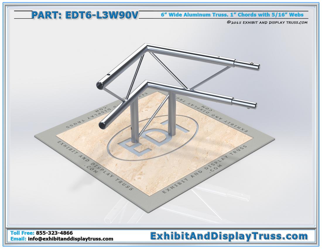 PART: EDT6-L3W90V / 3 Way 90° Ladder Junction Vertical