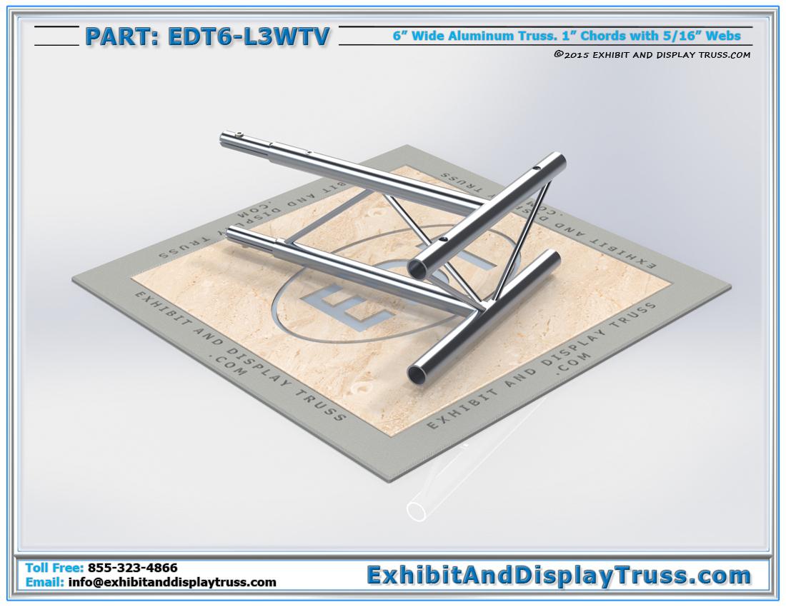 """PART: EDT6-L3WTV / 3 Way 90° """"T"""" Junction Vertical"""