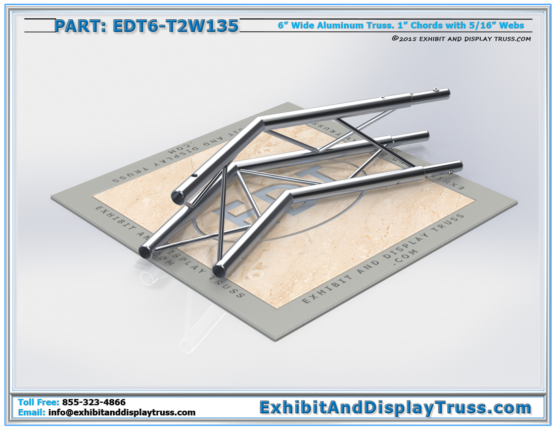 PART: EDT6-T2W135 / 2 Way 135° Junction Apex Up or Down