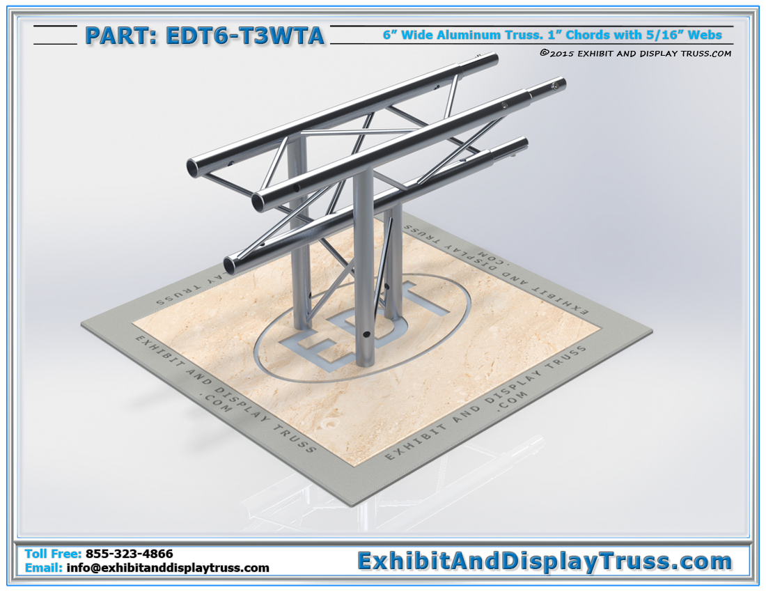 "PART: EDT6-T3WTA / 3 Way 90° ""T"" Junction Apex Down"