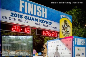 Across the ocean to stand tall for the Guam marathon. This 12