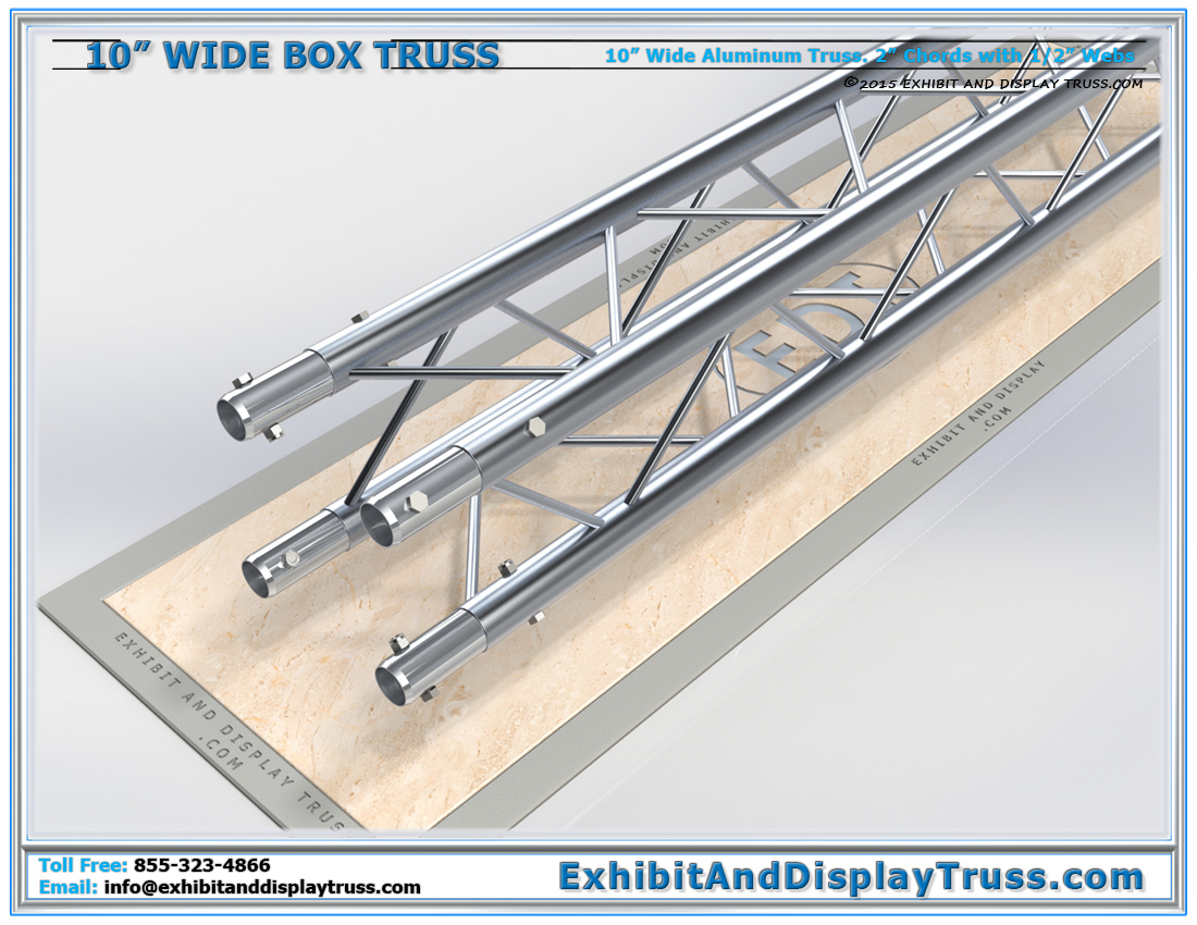 10″ Wide Box Truss / Linear Truss Lengths and Pricing