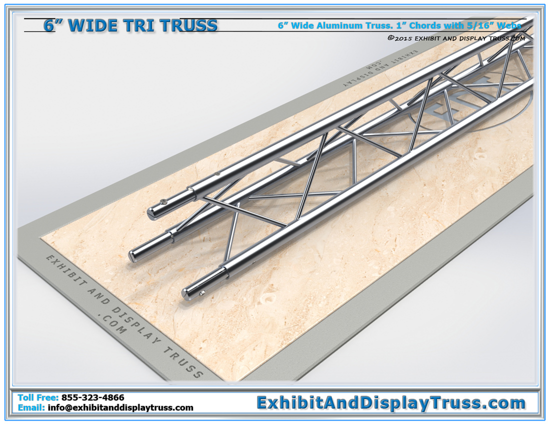 6″ Wide Triangle Truss / Linear Truss Lengths and Pricing