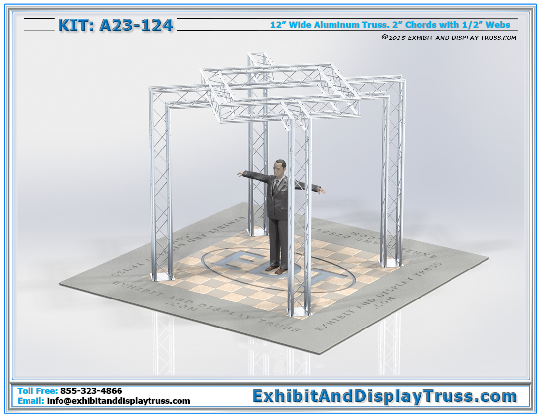 Kit: A23-124 / Durable Trade Show Kit for Hanging LED TVs and Monitors