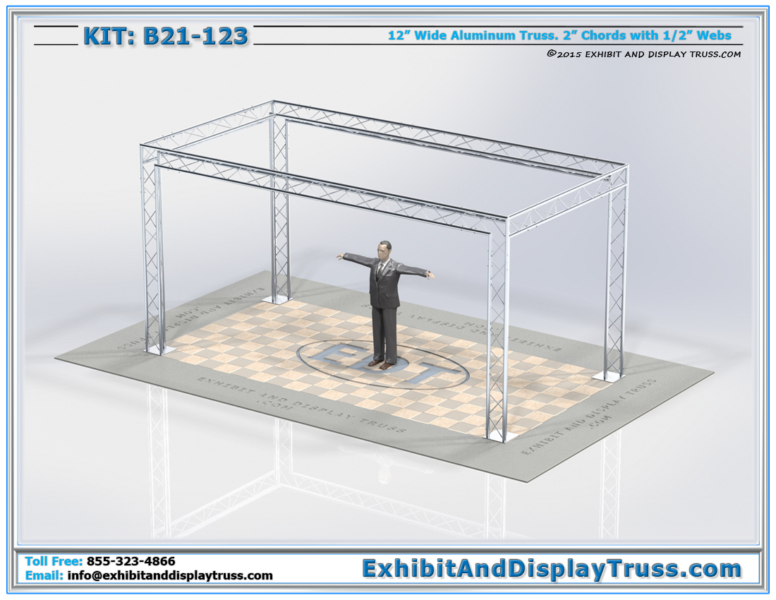 Kit: B21-123 / Cost-Effective Modular Perimeter Display Booth Design