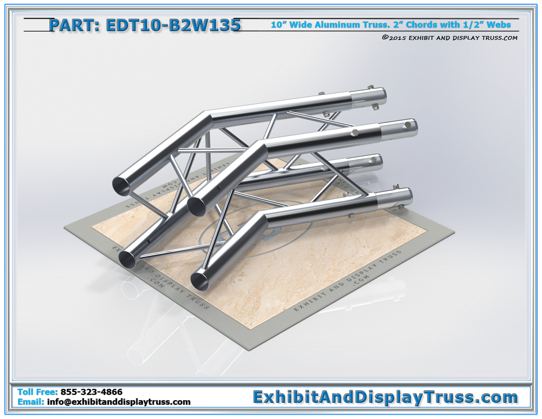 PART: EDT10-B2W135 / 10″ Wide 2 Way 135° Box Junction