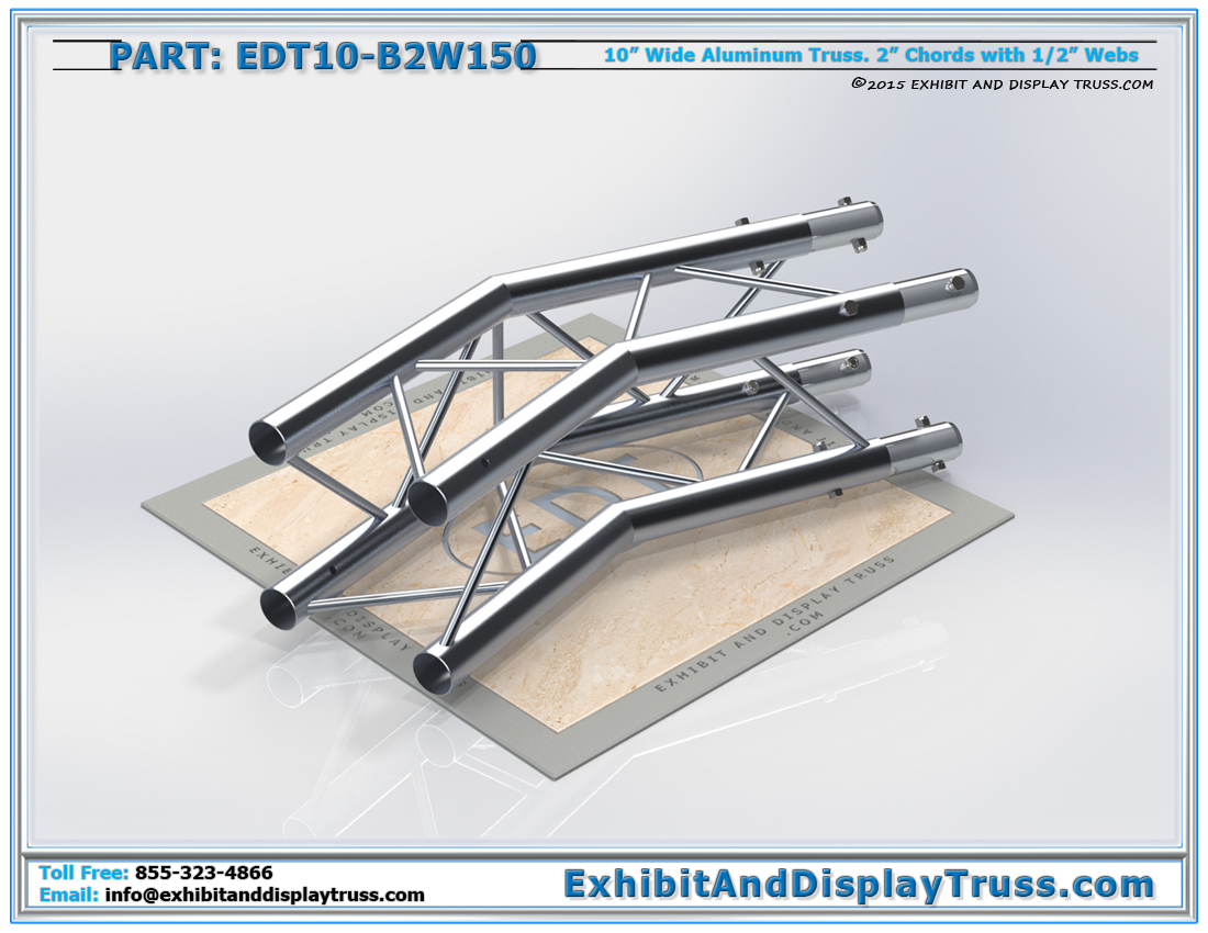 PART: EDT10-B2W150 / 10″ Wide 2 Way 150° Box Junction