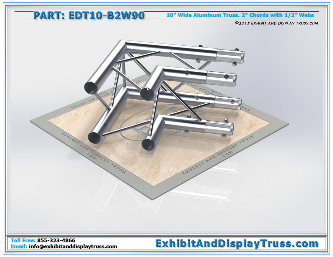 PART: EDT10-B2W90 / 10″ Wide 2 Way 90° Box Junction