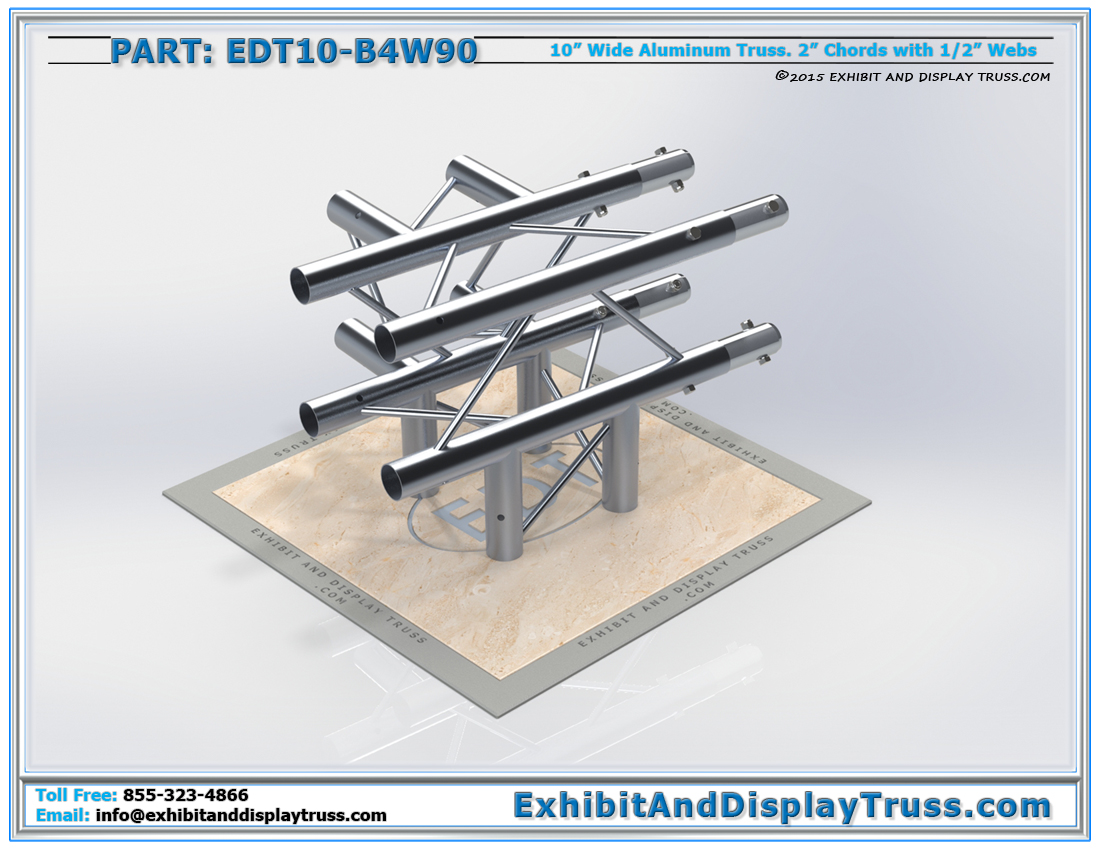 PART: EDT10-B4W90 / 10″ Wide 4 Way 90° Box Junction