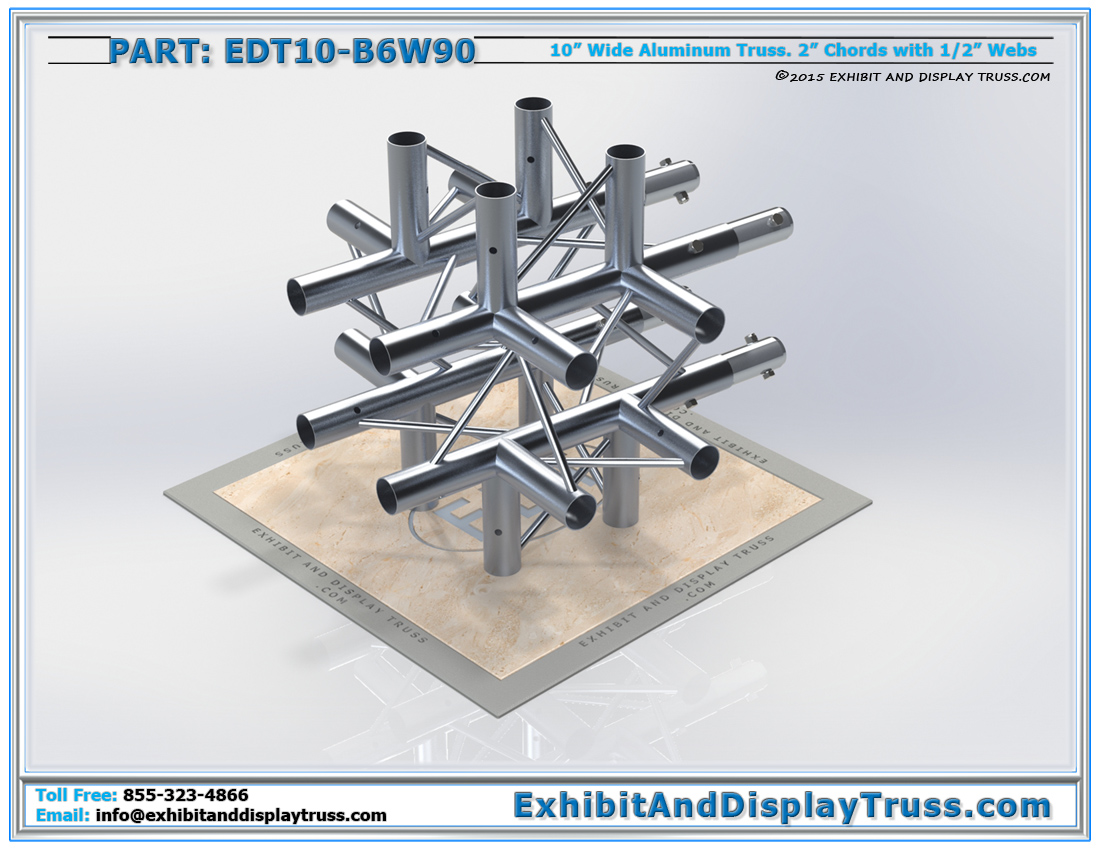 PART: EDT10-B6W90 / 10″ Wide 6 Way 90° Box Junction